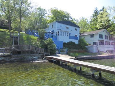 Photo for Newly Remodeled 6 Bedroom Cottage With Private Lakefront and View