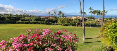 Beautiful ocean and greenbelt views - taken from upper lanai