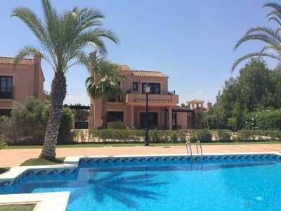 Photo for Luxury 3 Bedroomed Detached Villa with Shared Pool, Wifi & Air Conditioning