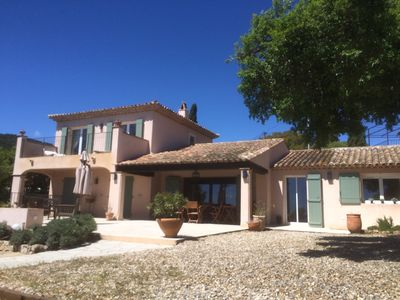 Photo for Les Issambres villa with swimming pool (8 people) magnificent view of golf St Tropez