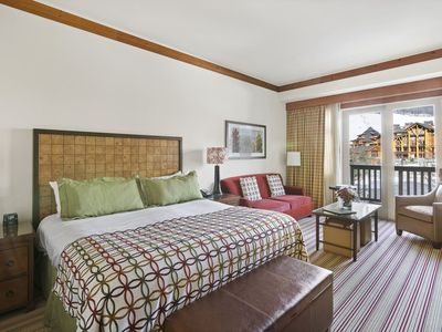 Photo for The Lodge at Spruce Peak Double Studio - Ski In/Ski Out Adjoining Studios are Perfect for Families: Mom & Dad in One...Kids in the other!