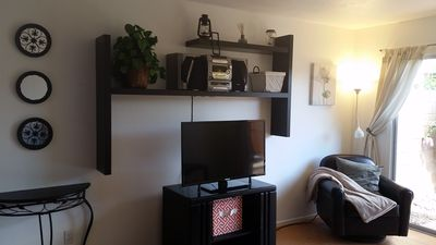 "Living Room - Brand new 40"" TV with Googlecast and antenna for local channels"