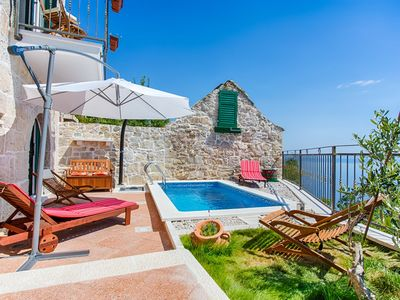 Photo for ctbr203 - Stone villa with private pool in Brela, 4 adults + 1 child, wi-fi, AC