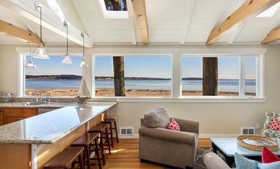 Photo for No Bank Whidbey Waterfront Beach Cabin on Kiteboarding & Off Leash Dog Beach!