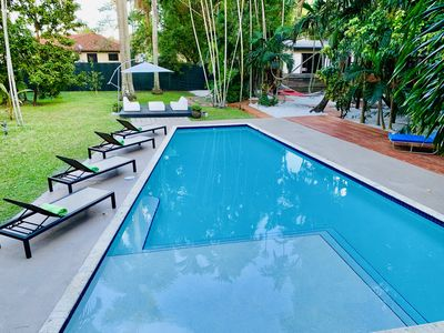Photo for Tropical paradise w heated pool on 1.2 acres