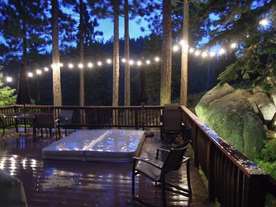 Deck and Hot Tub are ready and waiting for you!