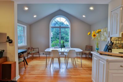 Light and views throughout  the spacious and airy Hideaway!