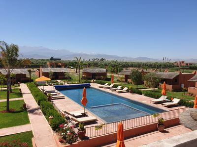 Photo for Private domain from 10 to 32 people, 9 bungalows of which 4 with private pool.  Marrakech
