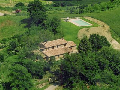Photo for Farmhouse on a hill with swimming pool, large garden and nice views