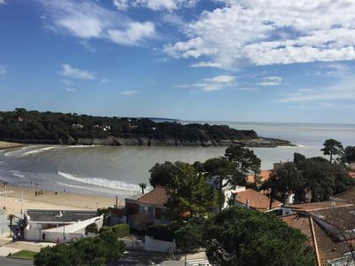 Photo for Very nice large studio with exceptional sea view - Beach downstairs