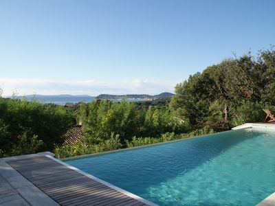 Photo for beautiful renovated villa with infinity pool, sea view, close to the beach