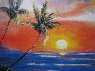 Painting of Kaanapali Sunset By J.R, Covey