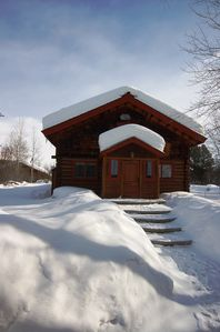 Photo for Elegant log home offers the best of contemporary and classic