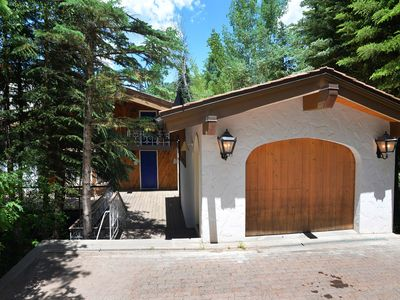 Photo for European Chalet above Vail Village 2 minute walk to slopes, private hot tub