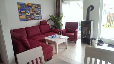 Photo for Luxury home with fireplace - only 250 m from the sandy beach