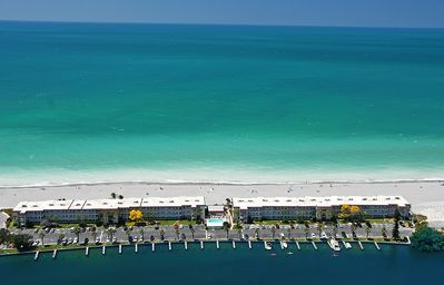 Photo for Beachfront Condo - 3 BR- Heated Pool - Free Boat Docks – Upscale – Siesta Key