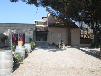 Photo for Large cottage for 15 people in St Cyprien large garden with trees near the beach