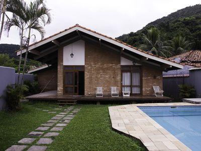 Photo for Comfortable beach house with pool, terrace, barbecue, 300m from the beach