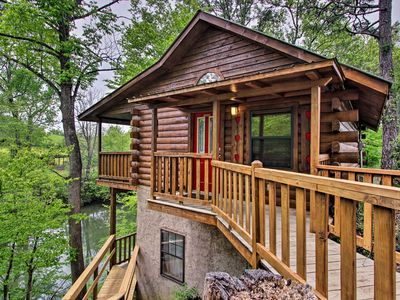 Photo for Riverfront Cabin w/Fire Pit - 5 Mi to Pigeon Forge