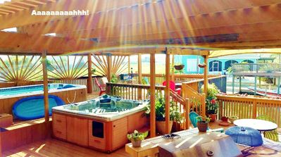 Photo for ON THE ISLAND ON THE WATER ON THE DECK- POOL HOT TUB BAR/GRILL, WIFI 210-3921151