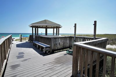 Gazebo and walkway to private beach
