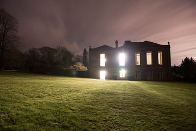 The west wing at night