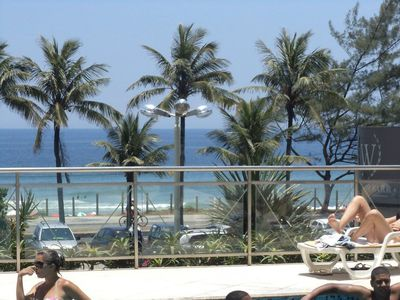 Photo for Beachfront of Barra da Tijuca Beach, height 3, next to Hotel Windsor
