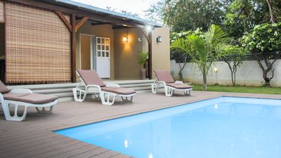 Photo for villa in la preneuse, black river a few steps from the beach with private pool