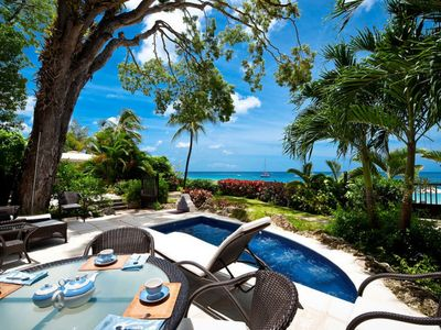Photo for Luxury Two Bedroom Villa w/ Private Plunge Pool Located on Paynes Bay Beach