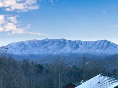 Photo for **NEW LUXURY CABIN!** POOL OPEN for SUMMER! AMAZING VIEWS GREAT SMOKY MOUNTAINS!