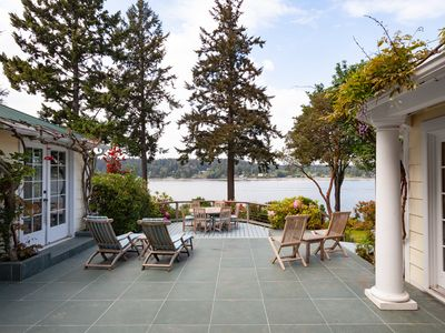 Photo for Waterfront Home on Private Acre Property on Quartermaster Harbor
