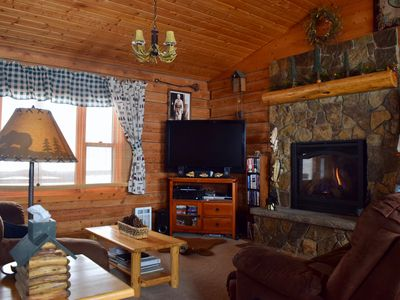 Photo for Amazing mountain views at this beautiful Red Lodge log home with attached garage