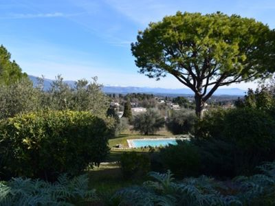 Photo for Exceptional view, swimming pool, 25 minutes from the beaches, Cannes, near Valbonne.
