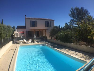 Photo for Beautiful family home with pool Pic Saint Loup. landscaped and tranquil park