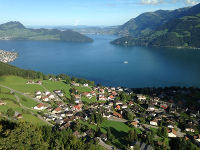 Photo for Apartment Lake Lucerne with breathtaking views and a large garden