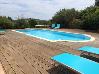 Photo for Studio in villa with private swimming pool, bay of st tropez