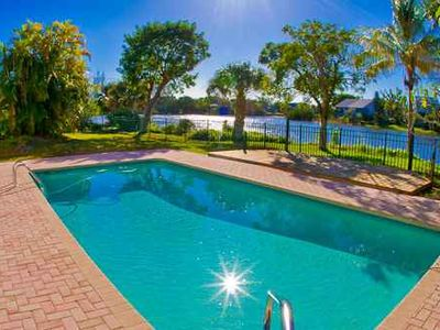 Photo for Enjoy Western Sunset Views from This Three Bedroom Sanibel Home - Sunset Lakeview