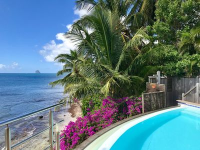 Photo for Luxury villa, 3 bedrooms, sleeps 8, infinity pool + private beach
