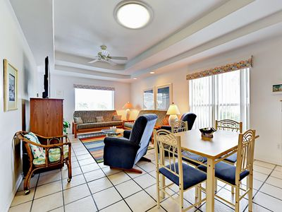 Photo for Group-friendly 2BR w/ Private Deck - 3 Minute Walk to Beach - Sleeps 6