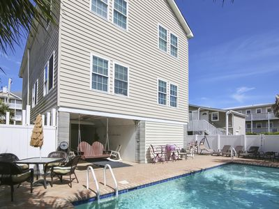 Photo for 6 bedroom 5 1/2 Bath 2 Story House with a Private Outdoor Pool, Electric Fireplace, Gas Grill with WIFI.  A place you would never want to leave!