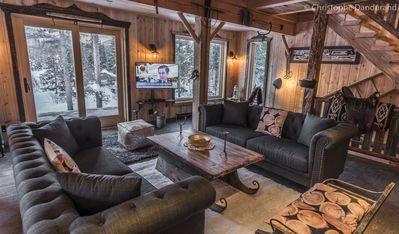 Photo for The Ranch Chalet ,with private hot tub, sauna and pool table.