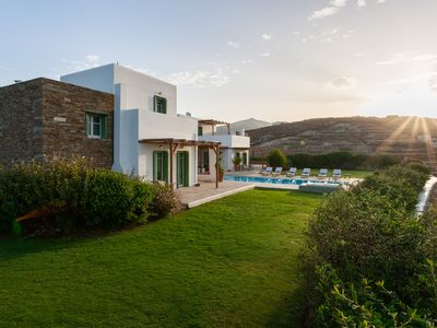 Photo for Stylish villa with spectacular sea views at a quiet location near the main town.
