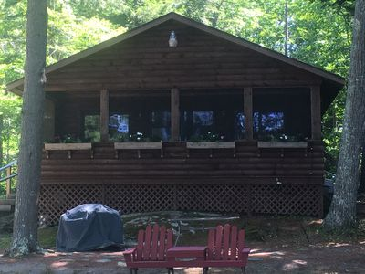 Remarkable Eagles Ospreys And Loons Abound On This Beautiful Lake Lakefront Log Cabin Nobleboro Home Remodeling Inspirations Basidirectenergyitoicom