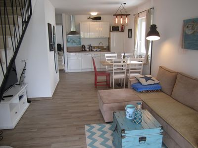 Photo for GOLDFISH 5 Studio apartment, 50 m from the beach, sea view, air conditioning, WiFi, parking
