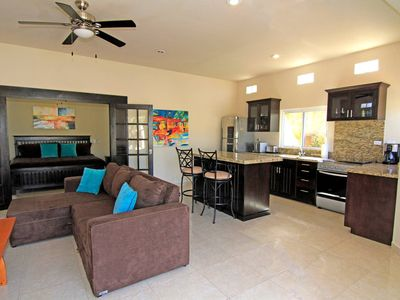Photo for Beautiful ground floor unit, Few hundred steps to Cerritos Beach, 2 Pools
