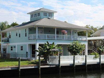 Photo for Over 90 Reviews! Most popular home in CR. Deep Water Canal w/ Dock, Kayaks
