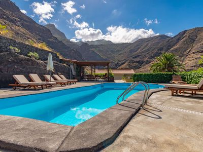 Photo for holiday cottages with private pool in El Risco, Agaete
