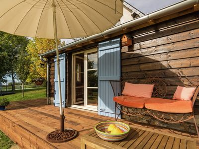 Photo for Romantic cottage with views and use of heated swimming pool and tennis court