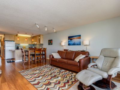 Photo for Dog-friendly condo w/great ocean views, shared hot tub & pool, easy beach access