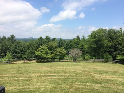 Front lawn area from porch. Plenty of room to run and play!
